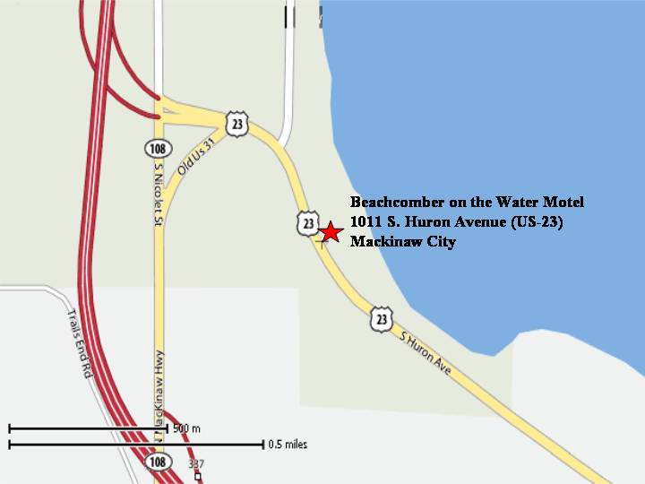 Maps Driving Directions Beachcomber on the Water Motel